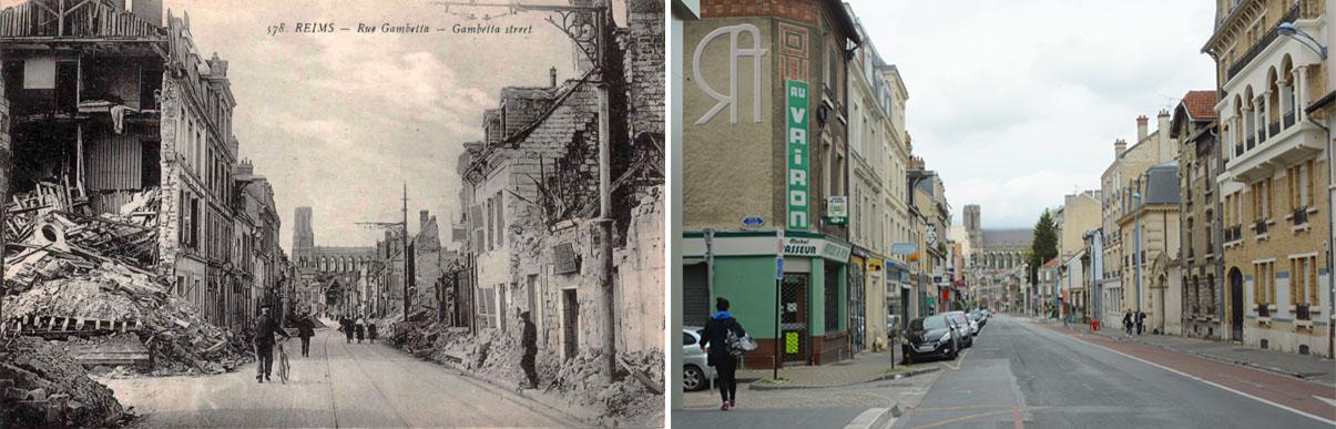 La Rue Gambetta à l'angle de la Rue de L'Equerre