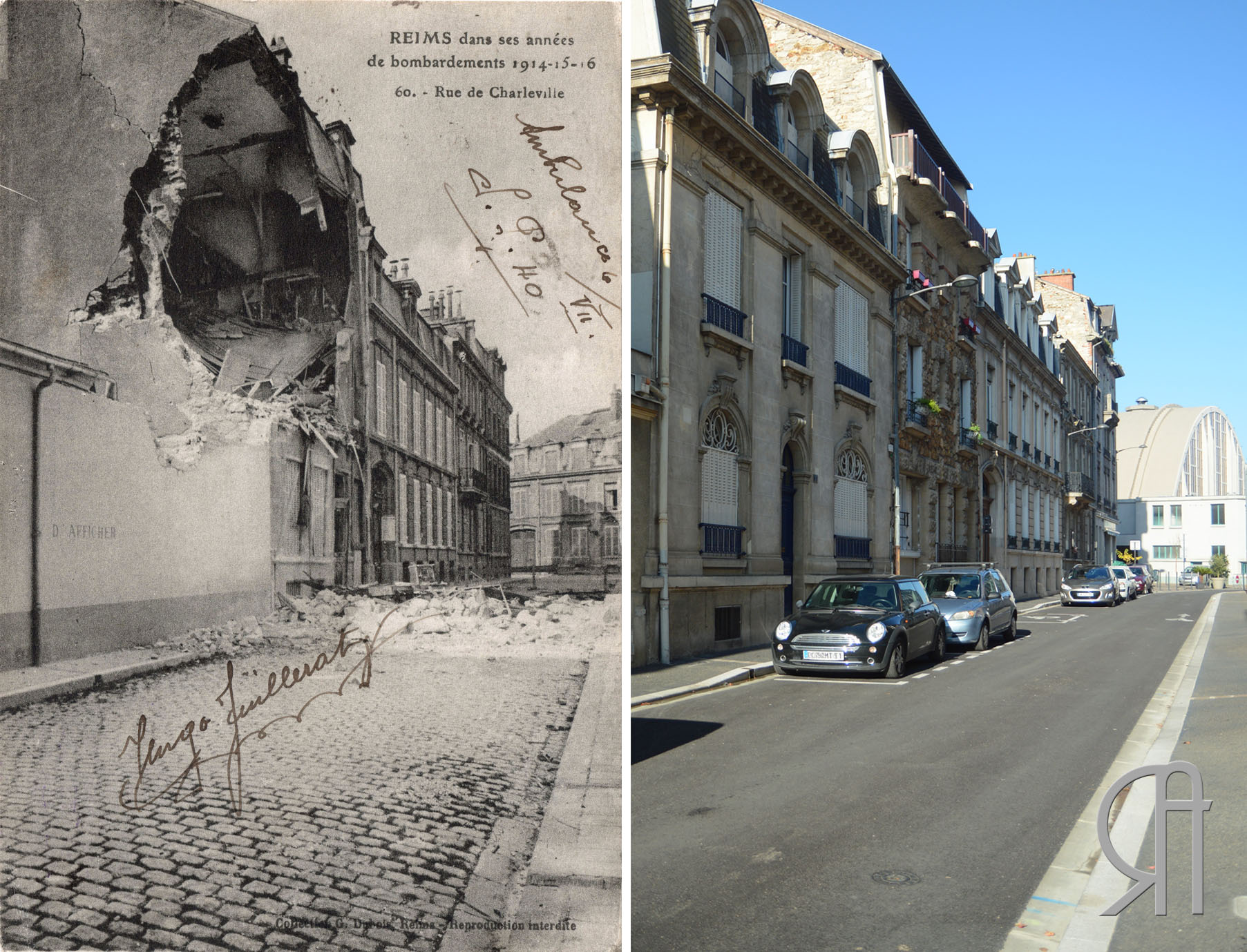 La rue de Charleville en 1919