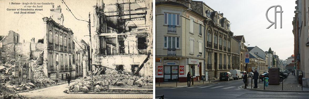 Angle de la rue Gambetta et de la rue du Jard