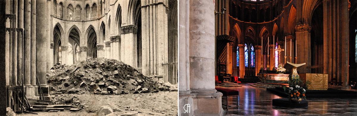 Débris des voutes du Chœur recouvrant le maitre-autel