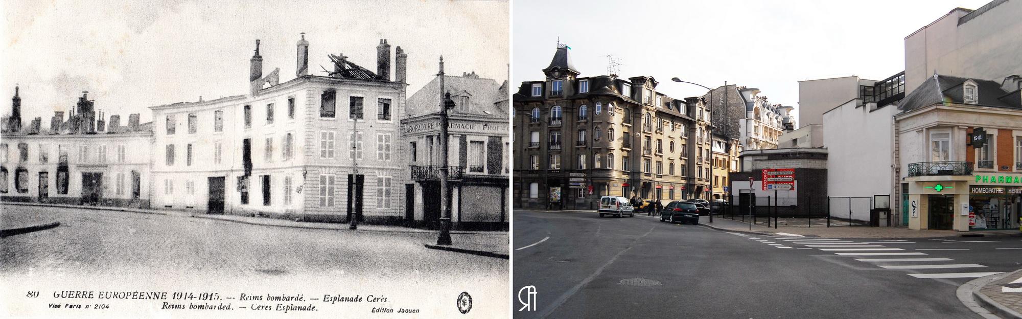 Esplanade Cérès, actuelle place Aristide Briand