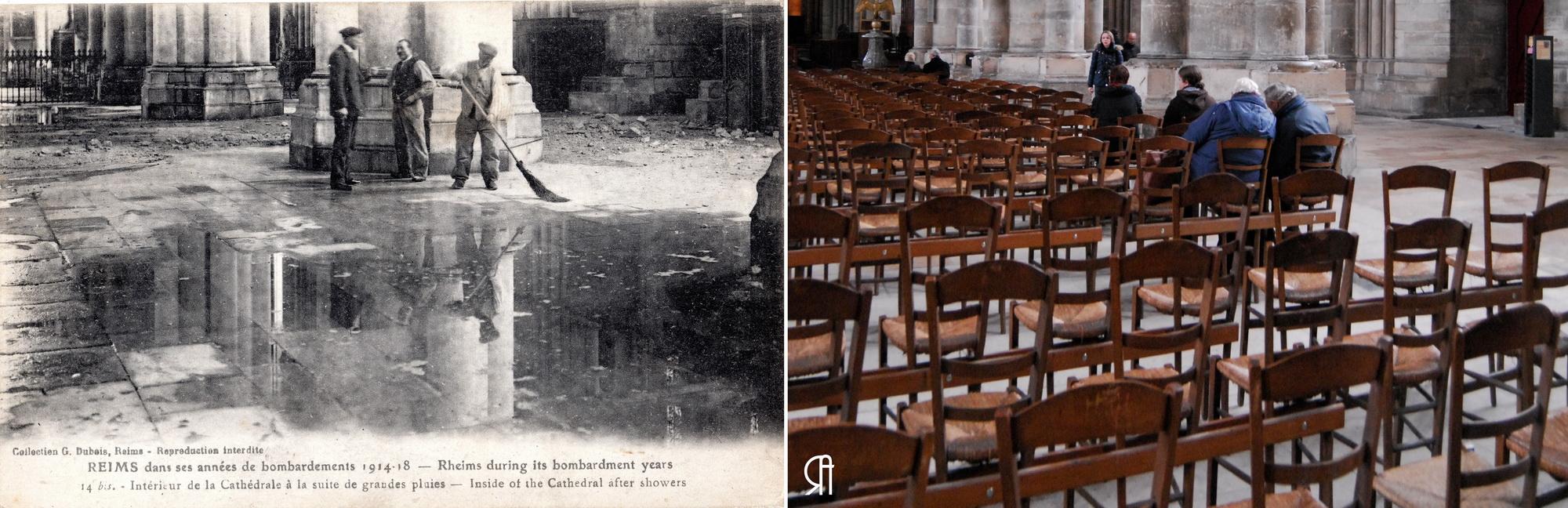 Pluie dans la cathédrale, La grande nef après les bombardements
