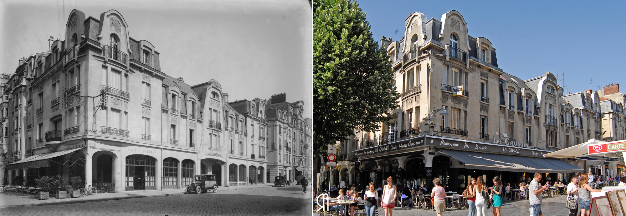 Le Gaulois, angle de la place d'Erlon et de la rue Condorcet