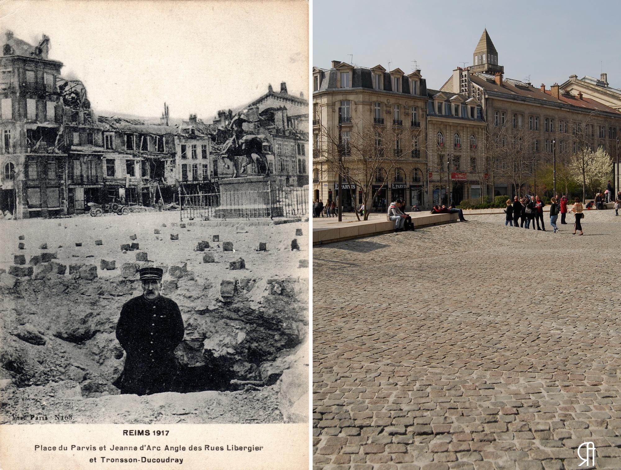 Place du Parvis en 1917