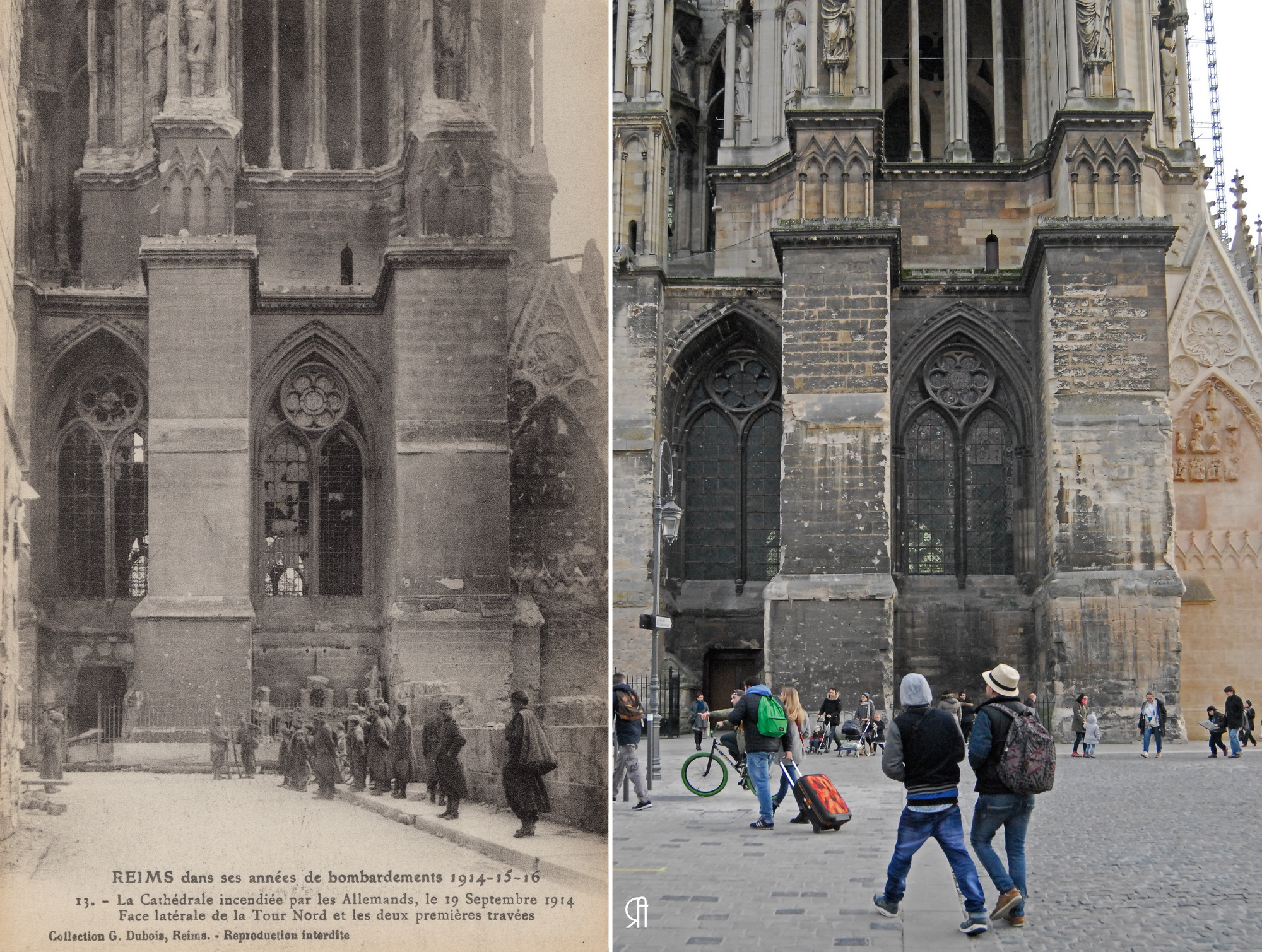 Face latérale de la tour nord et les deux premières travées de la Cathédrale