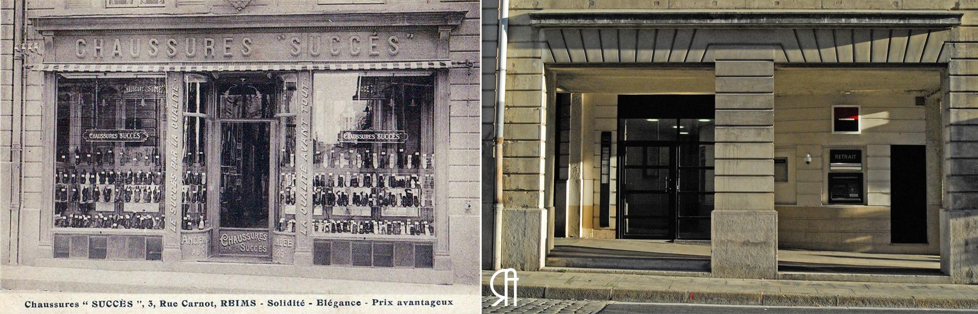 """Les chaussures """"Succès"""", rue Carnot."""