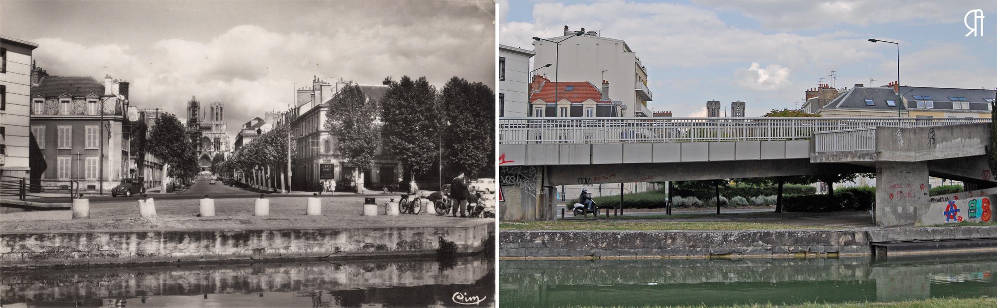 Le canal et la rue Libergier
