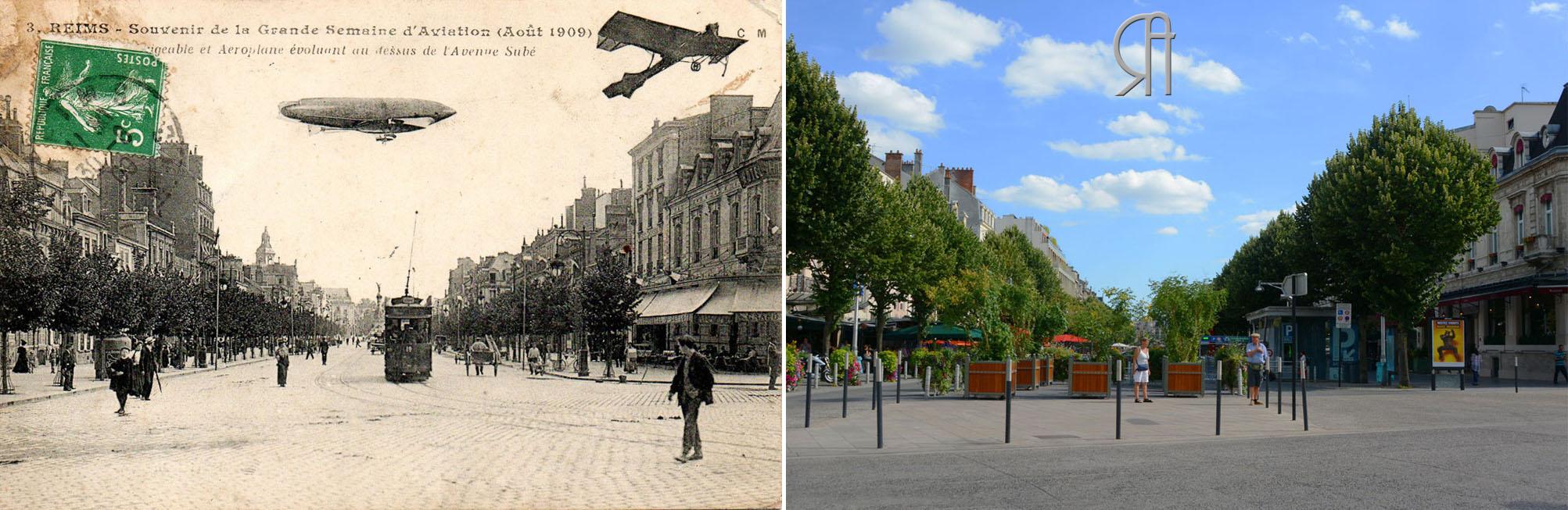 Grande Semaine d'Aviation (août 1909) - Place d'Erlon