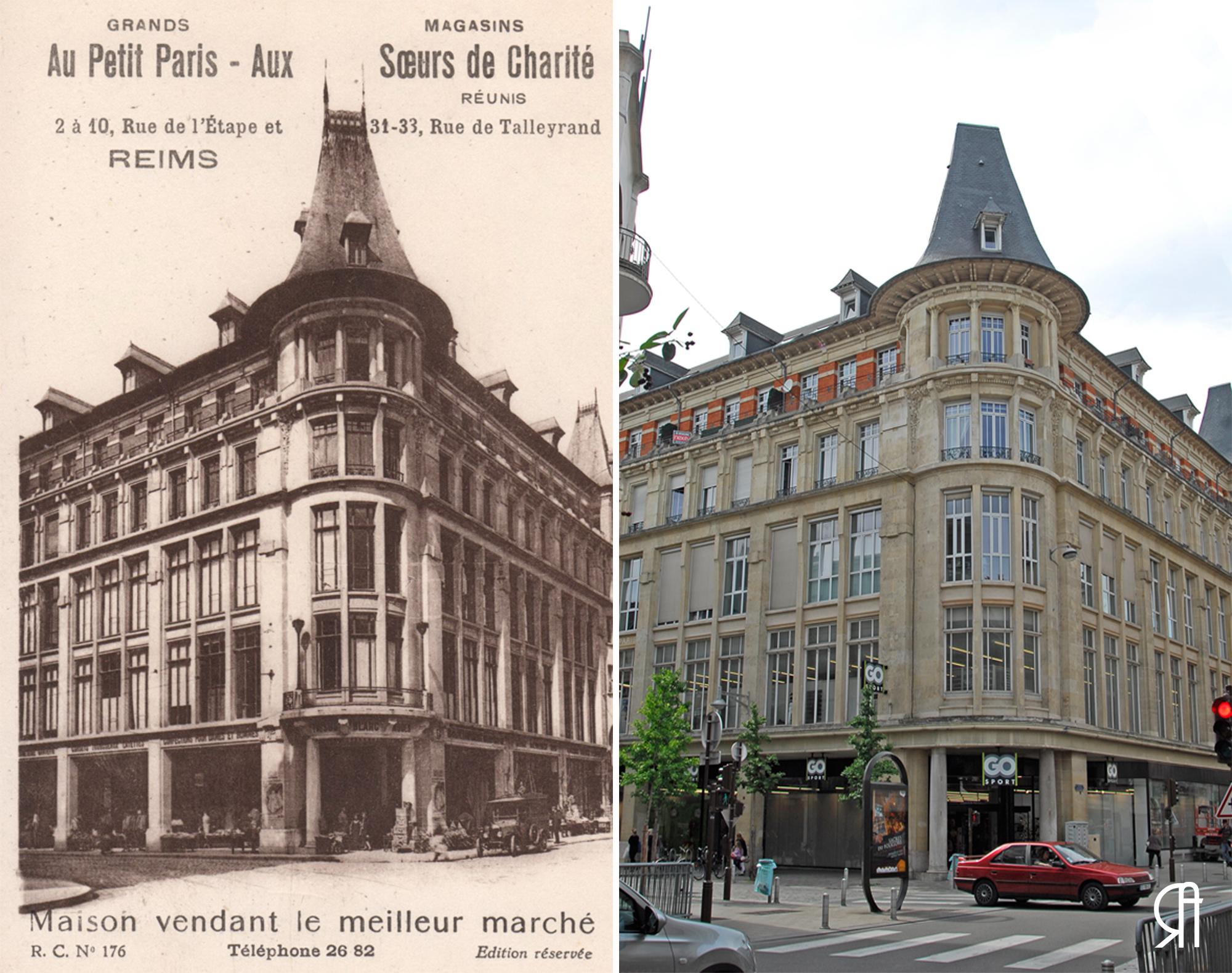 Au Petit Paris, Aux Sœurs de Charité, rue de Talleyrand, rue de l'Étape