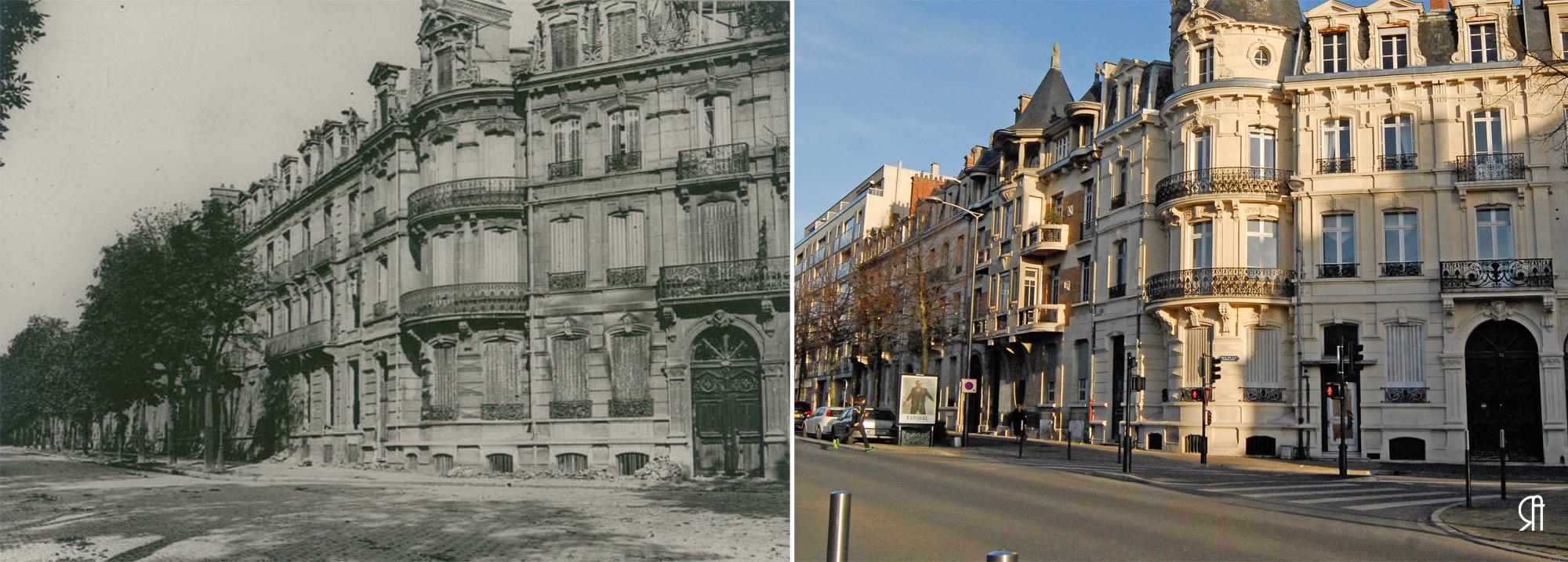 Angle de la rue de la Tirelire et du boulevard Foch