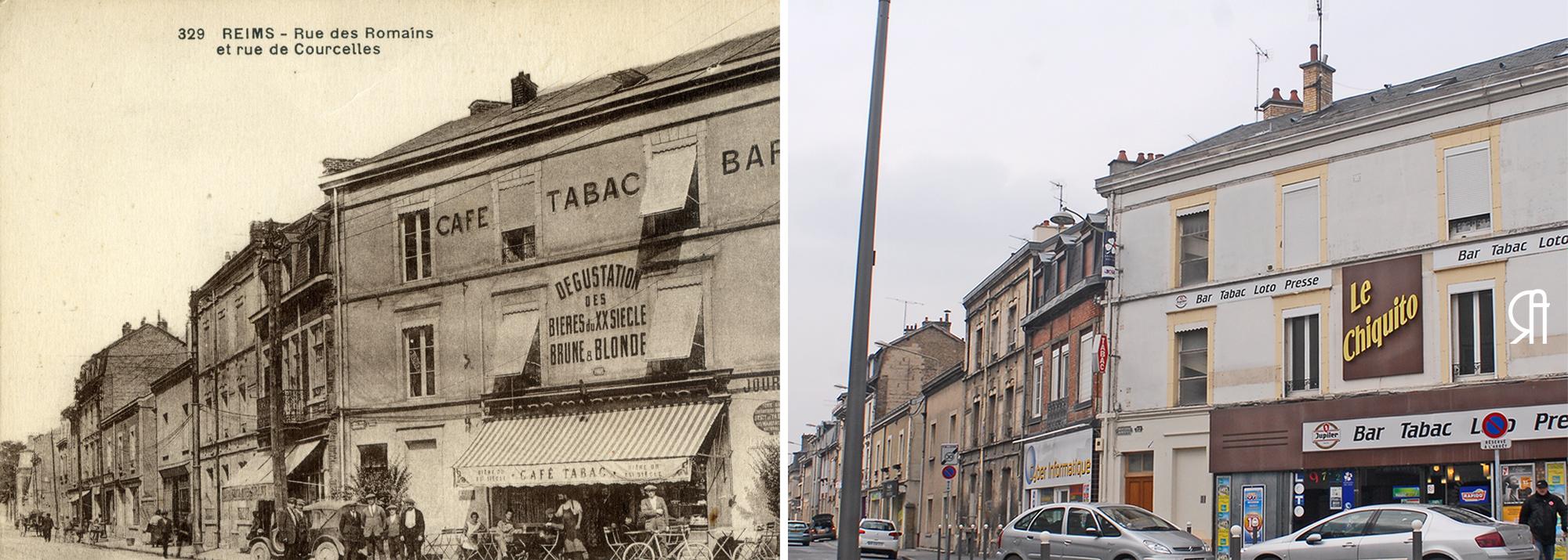 Café-Tabac-Bar de l'angle de la rue des Romains et de la rue de Courcelles
