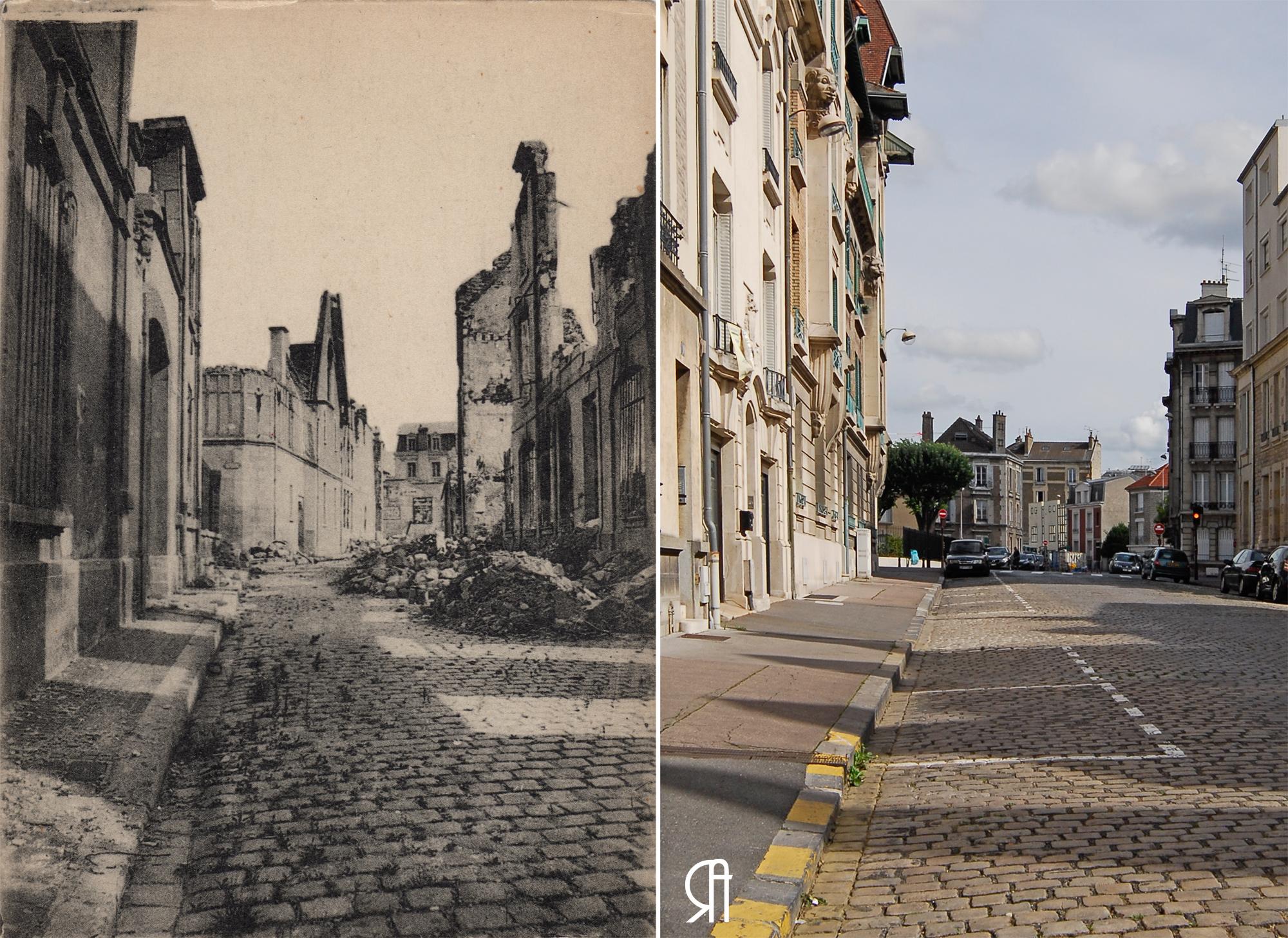 Rue des Trois-Raisinets et le couvent des Cordeliers