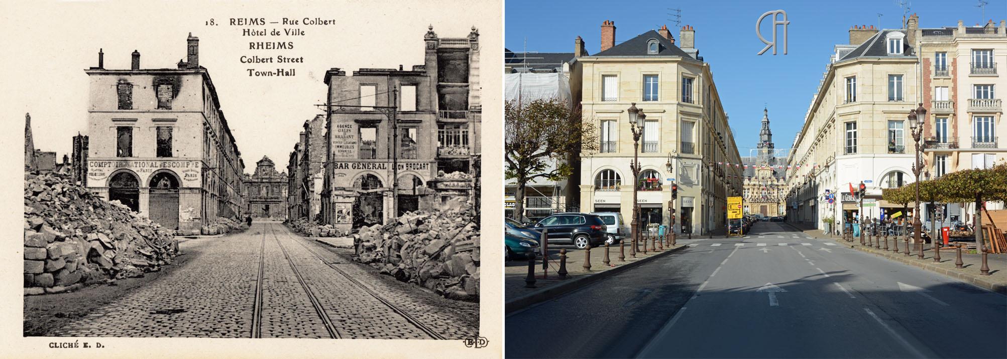 Rue Colbert et Place du Forum