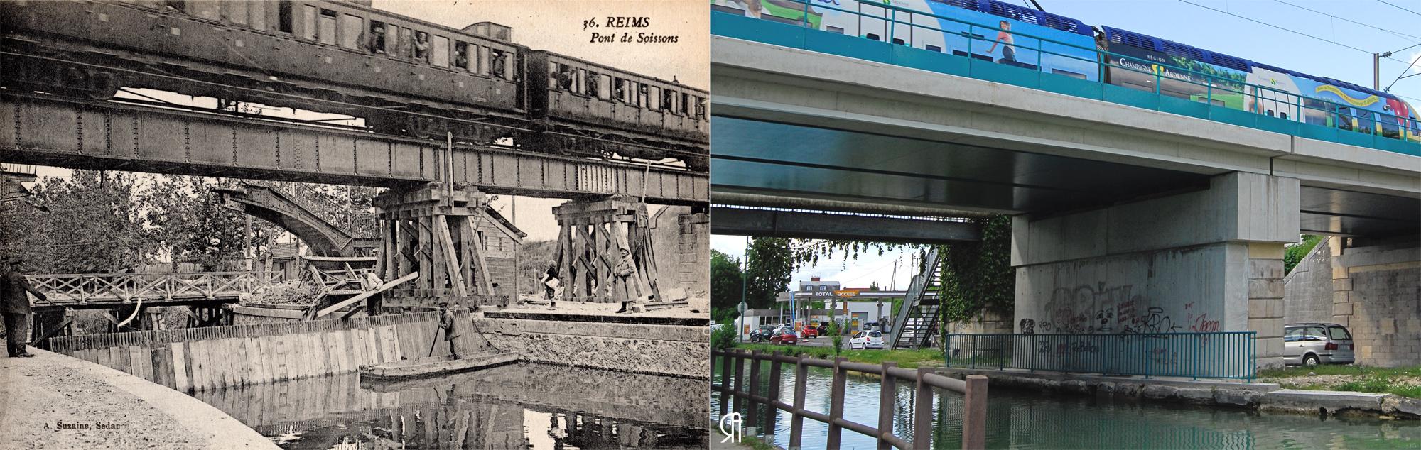 Un pont de chemin de fer sur le canal