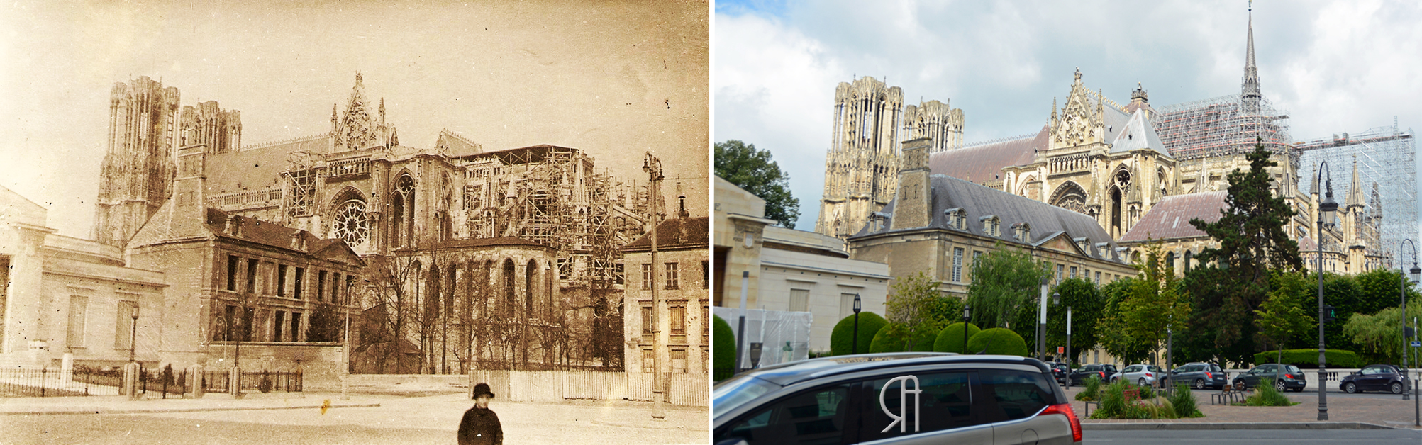 L'échafaudage de la cathédrale