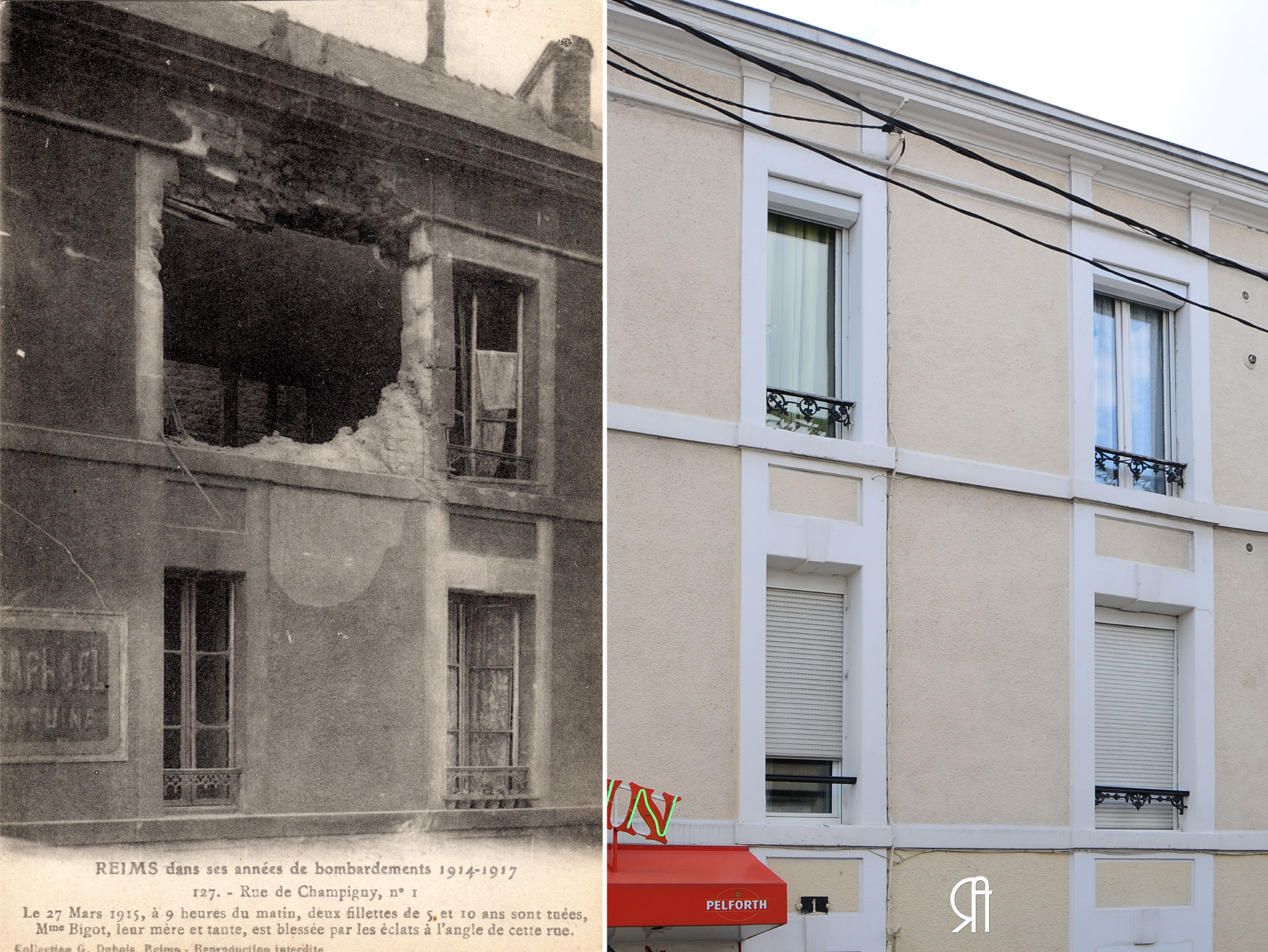 1 rue de Champigny, angle de la rue des Romains