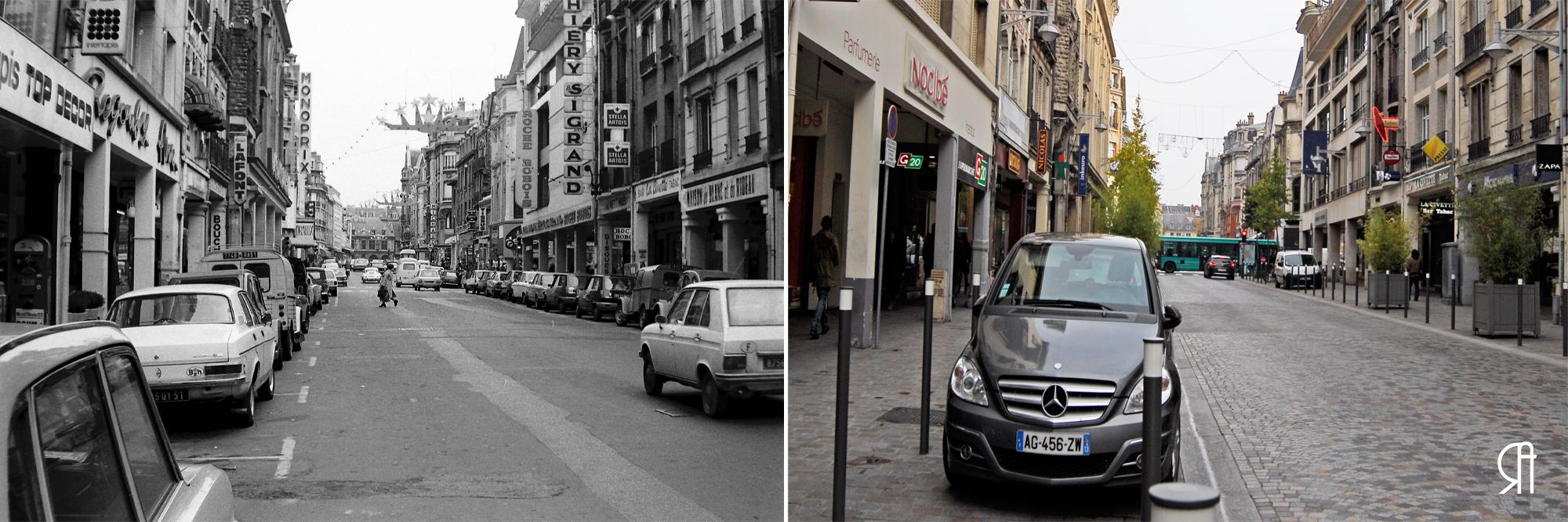 Rue de l'Etape et dans son prolongement : la rue du Cadran-Saint-Pierre