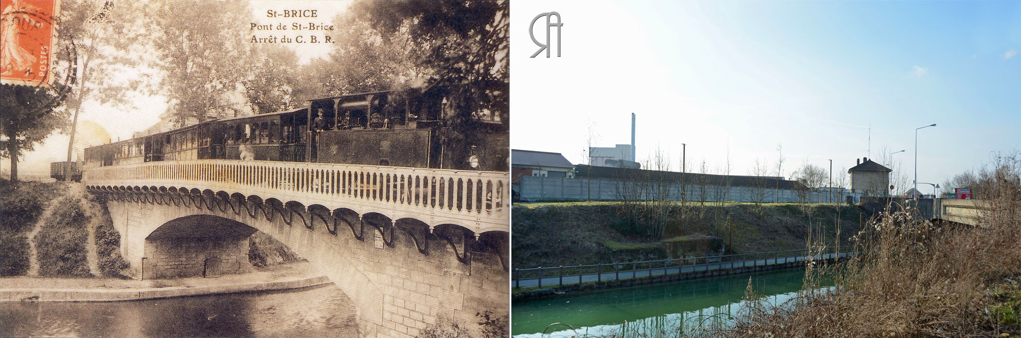 Le pont de Saint-Brice-Courcelles