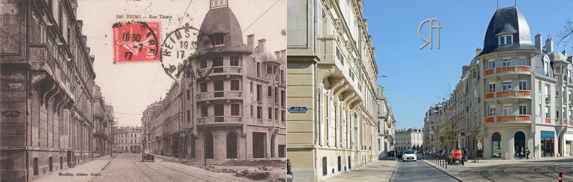 La rue Thiers pendant la Reconstruction