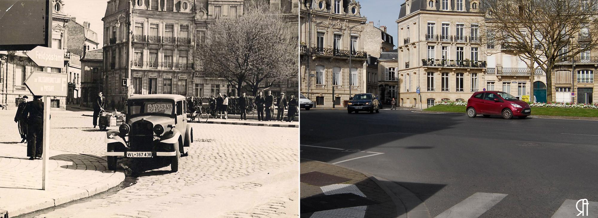 La place Aristide Briand en 1940