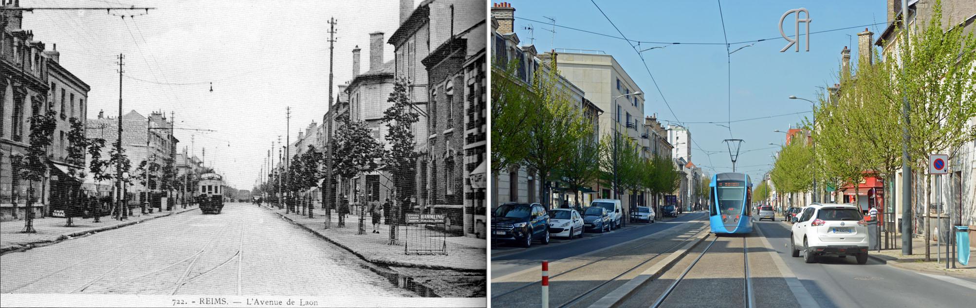 L'Avenue de Laon à l'angle de la rue Boudet