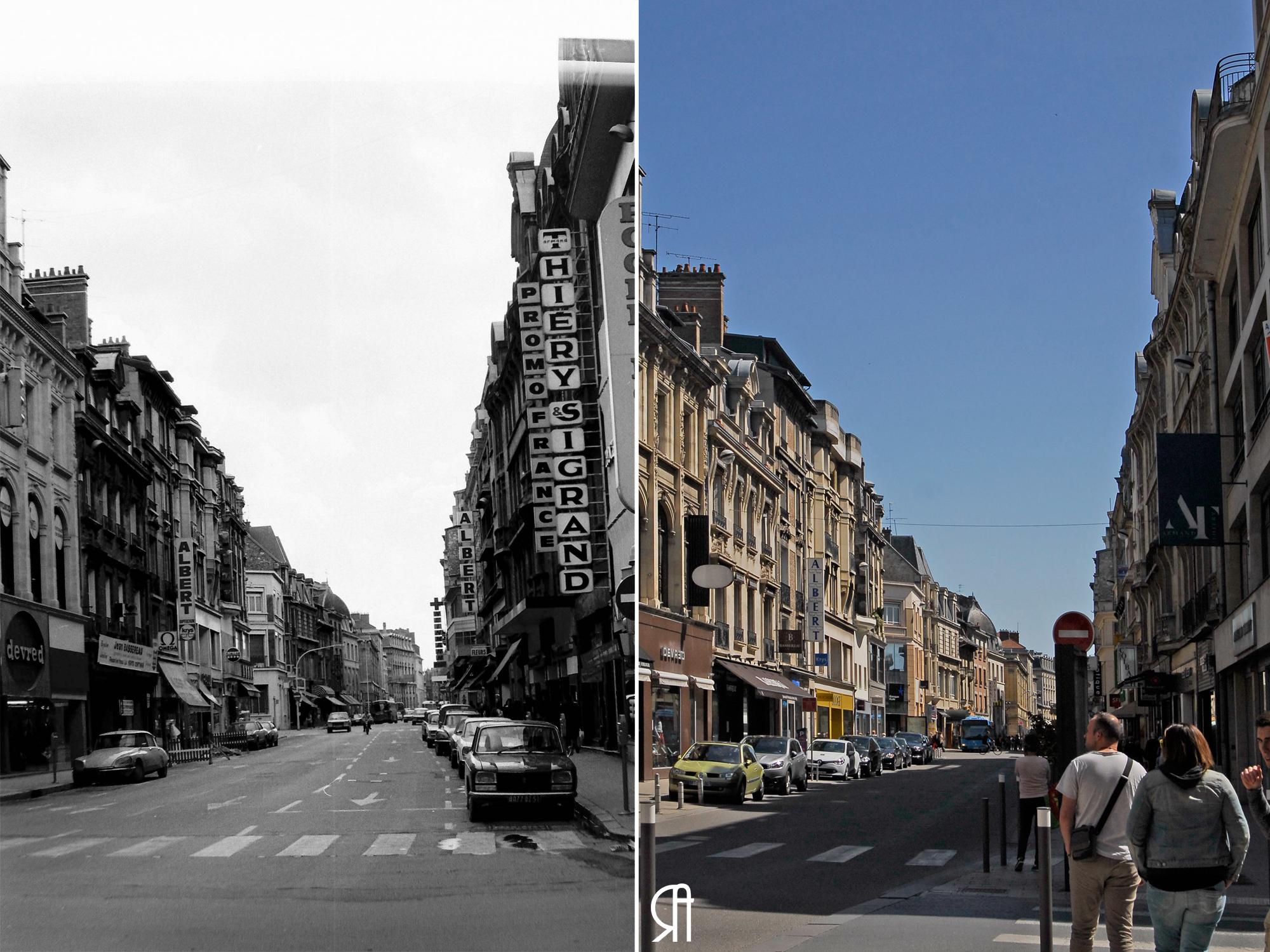 Rue de Talleyrand à la hauteur de la rue de l'Étape