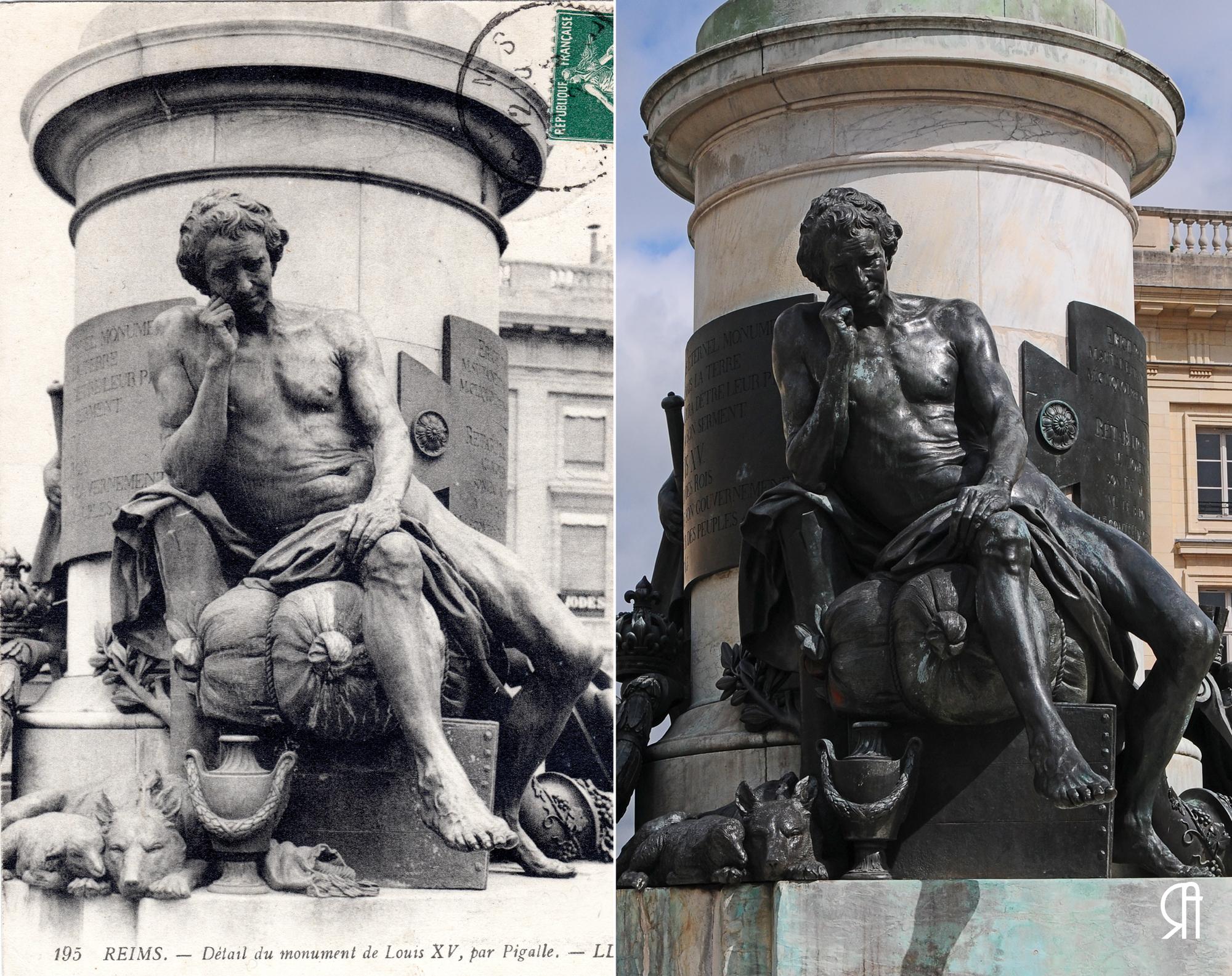 Le Génie du Commerce (dit aussi Le Citoyen) du monument de Louis XV, place Royale