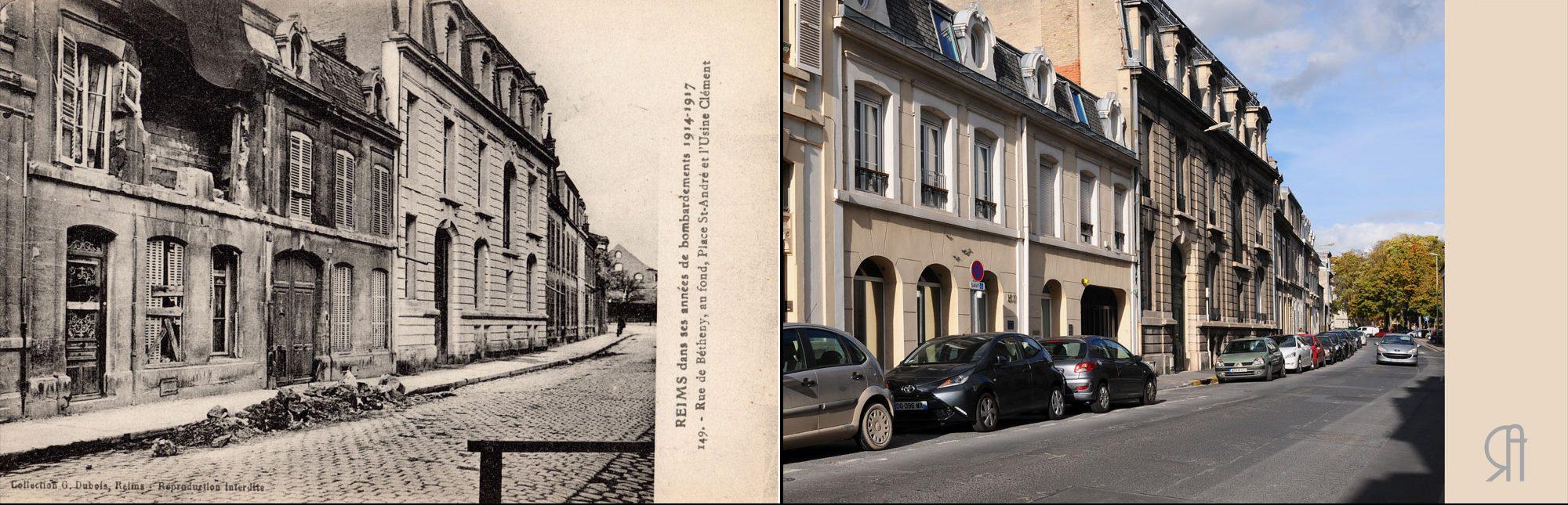 Ancienne rue de Bétheny, actuelle rue Camille Lenoir