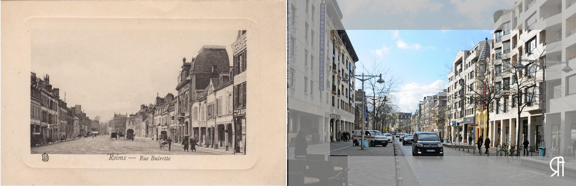 Rue Buirette avant la Grande Guerre.