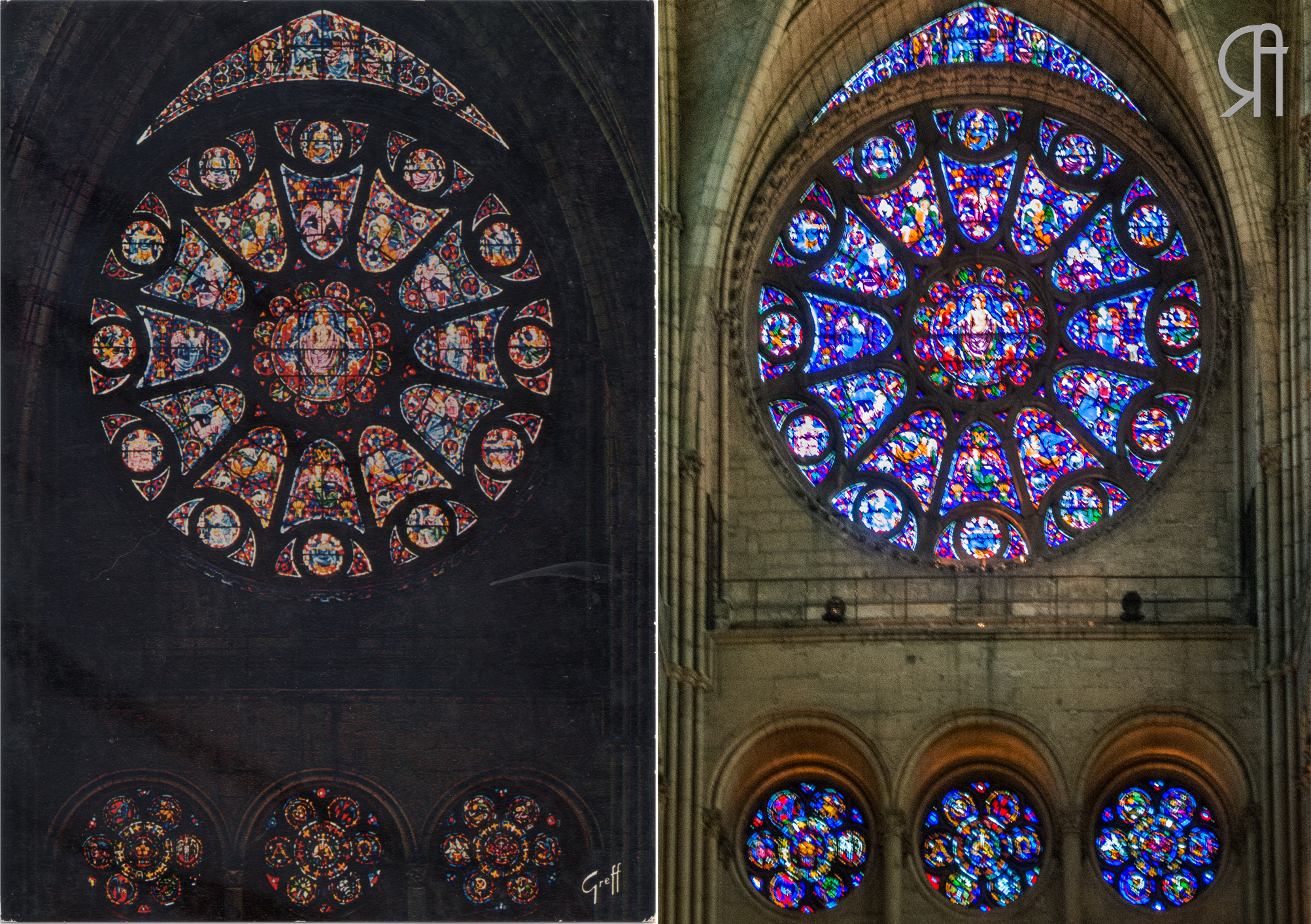 La Rose du Transept Sud de la Cathédrale