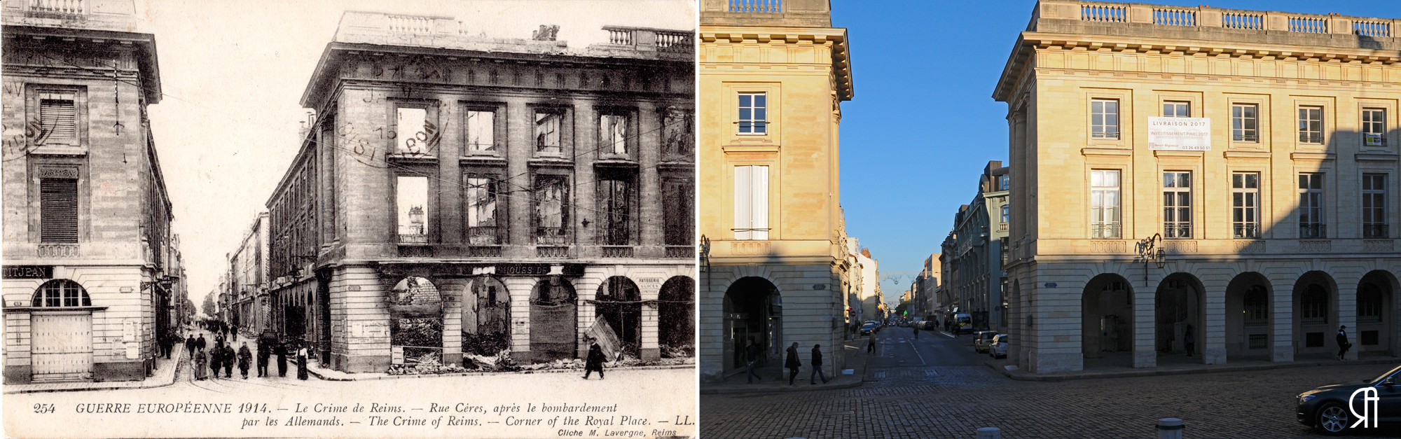 Place Royale et la rue Cérès