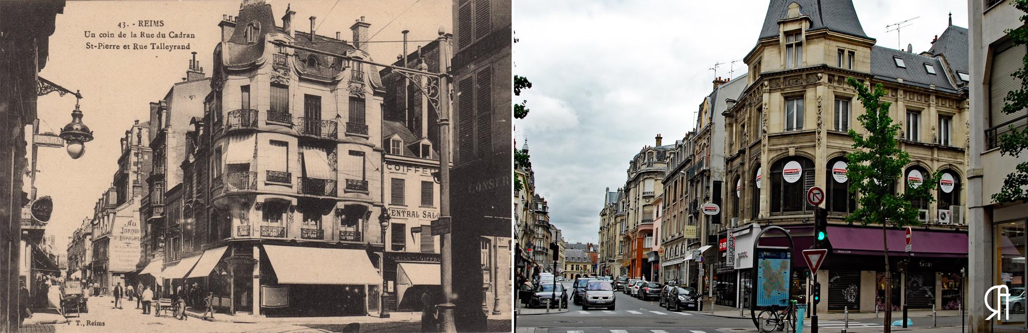 Angle de la rue de Talleyrand et de la rue du Cadran-Saint-Pierre