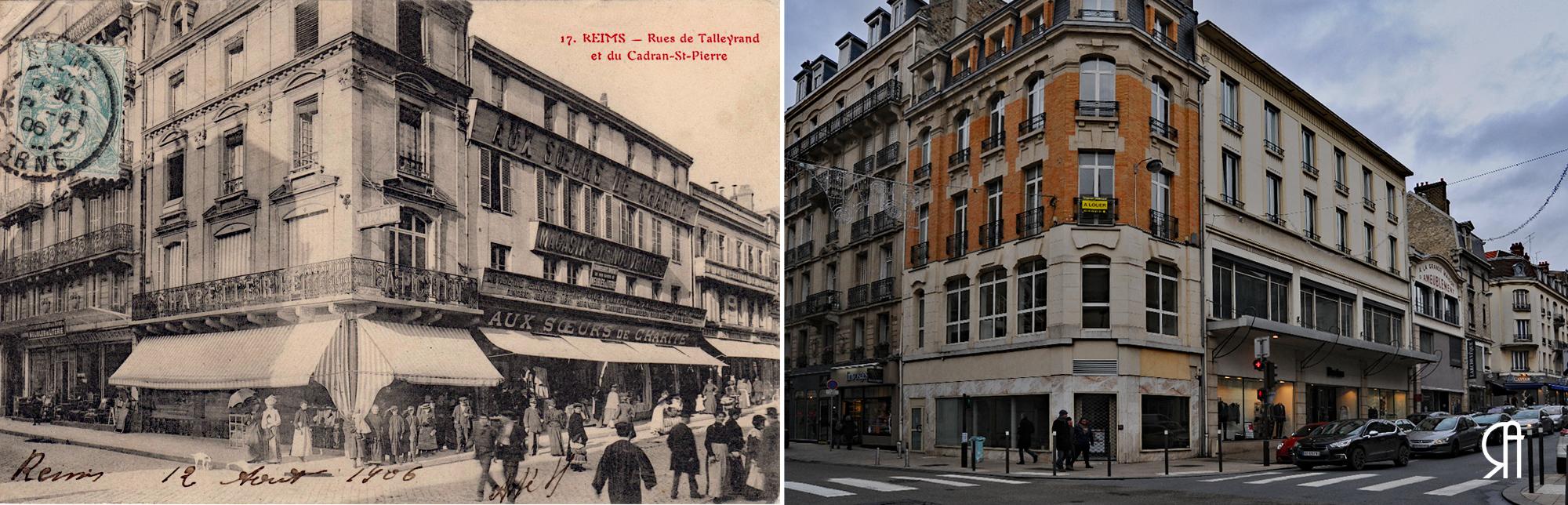 Angle de la rue de Talleyrand et de la rue du Cadran Saint-Pierre