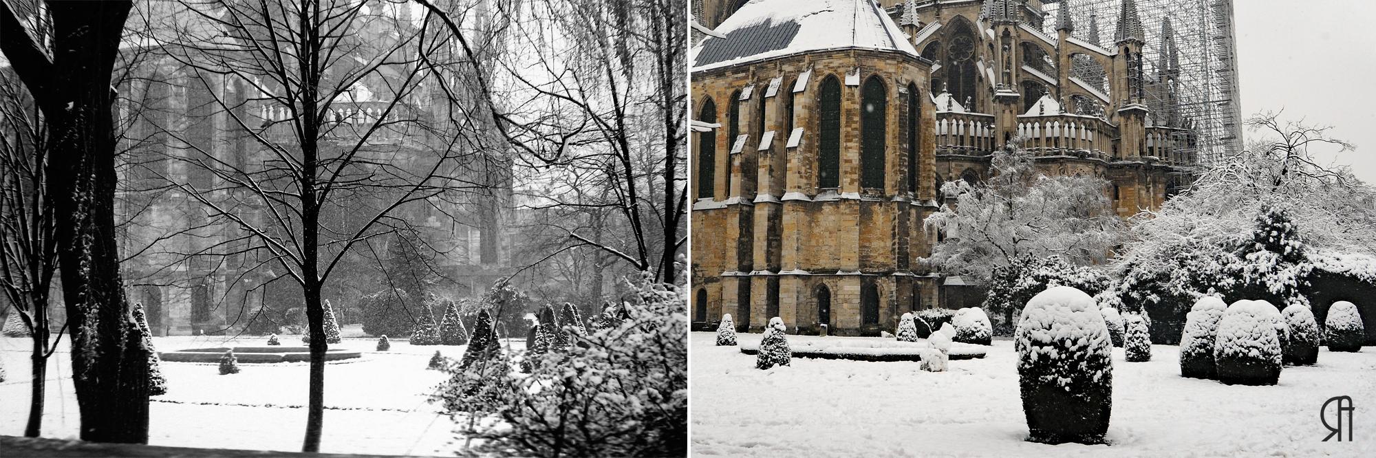 L'abside de la Cathédrale sous la neige