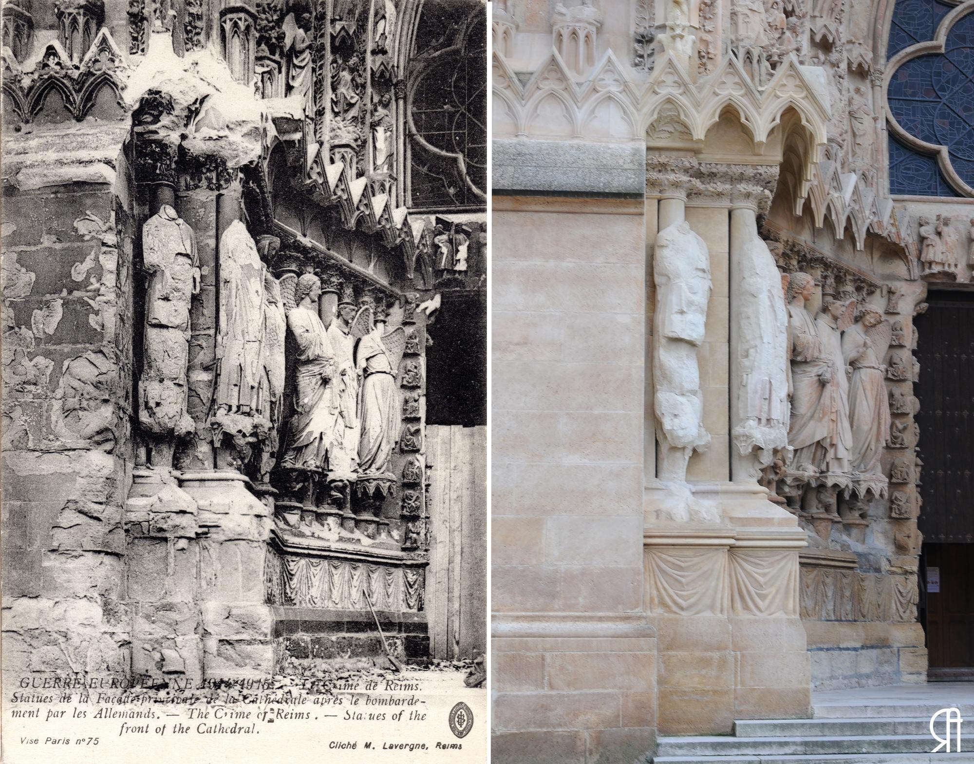 Le portail gauche de la façade de la cathédrale