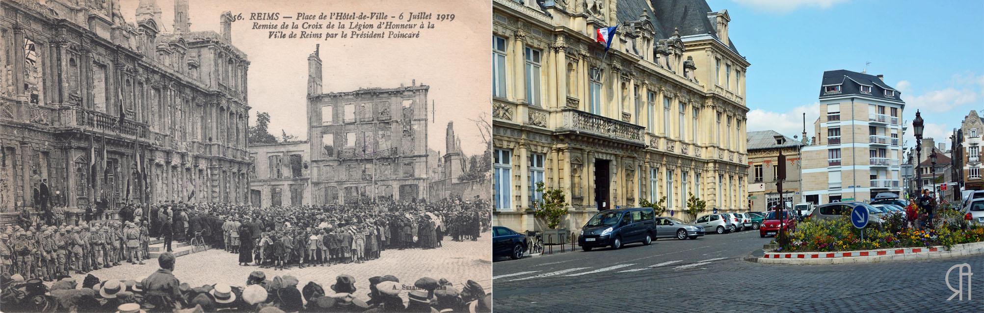 La remise de la Légion d'Honneur à la ville de Reims en juillet 1919