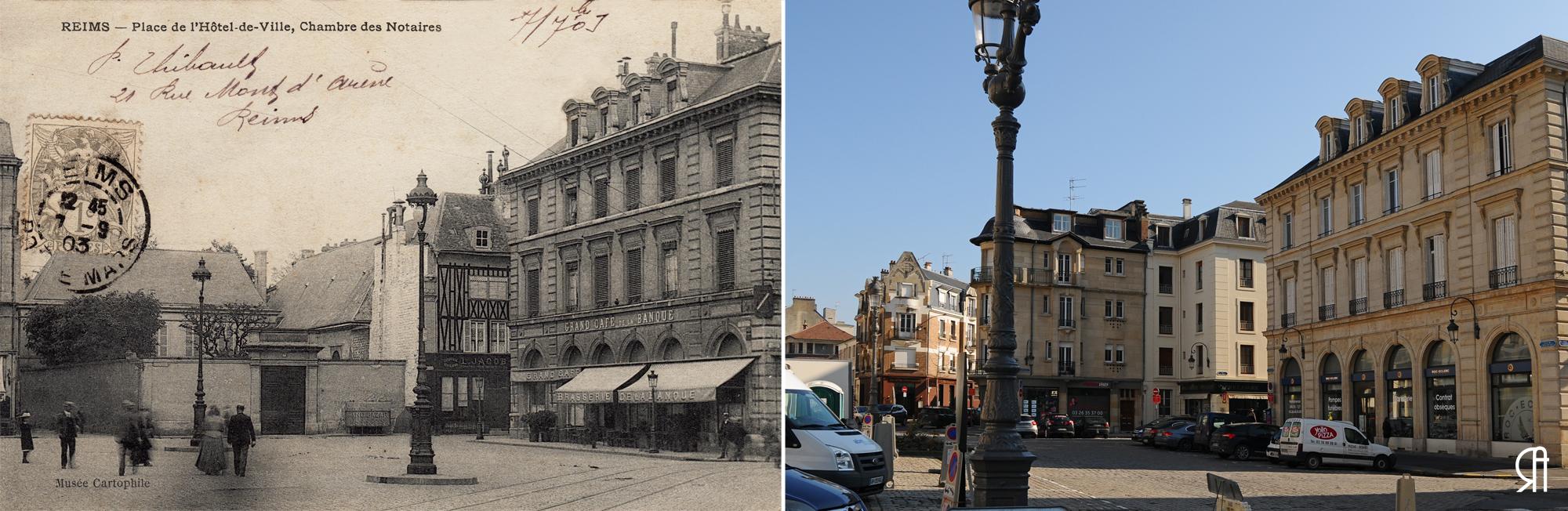 La Chambre des notaires, place de l'Hôtel de Ville avant la Grande Guerre