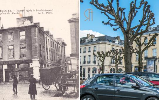 La Place des Marchés et la rue Trudaine en 1915