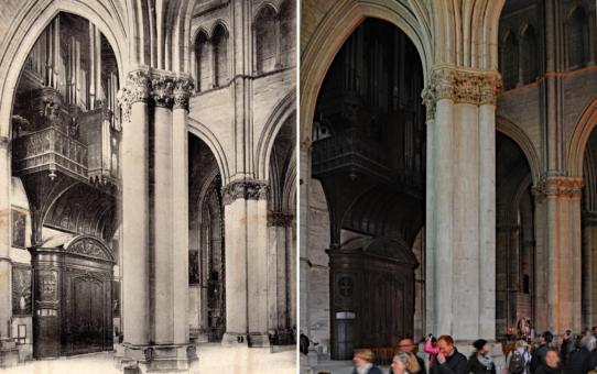 Transept nord et le grand orgue de la Cathédrale