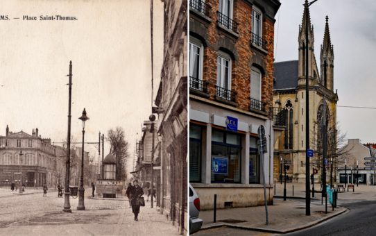 Avenue de Laon et l'église Saint-Thomas