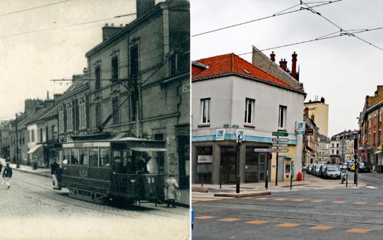 L'angle de la rue de Laon et de la rue Emile Zola