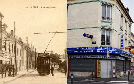 Rue de Neufchâtel, à gauche rue du Général Battesti