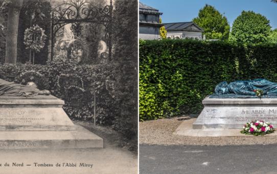 Le Gisant de l'Abbé Miroy réinstallé sur sa tombe