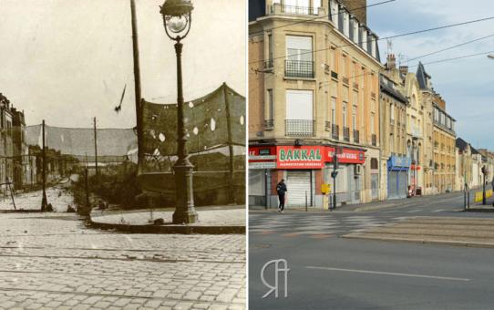 La rue Lesage en 1917