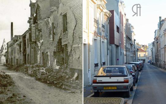 La rue Macquart le 26 août 1917
