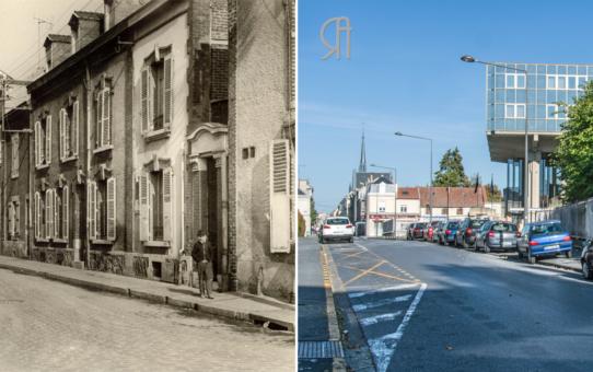 L'angle de la rue des Capucins et de la rue du Ruisselet en 1970
