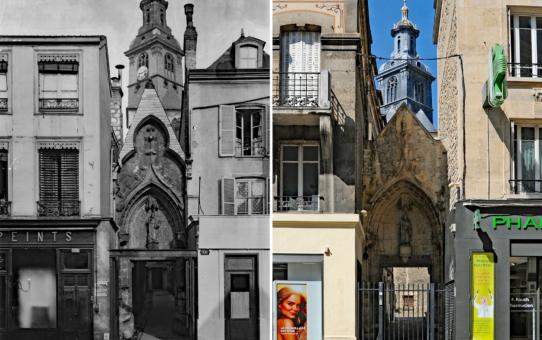 Trois époques : le passage Saint-Jacques depuis la rue de Vesle