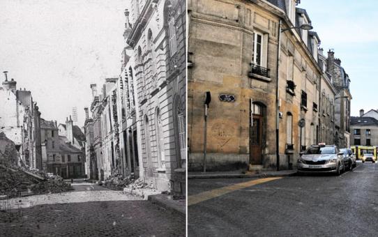 Rue des Boucheries et rue Salin pendant la Grande Guerre