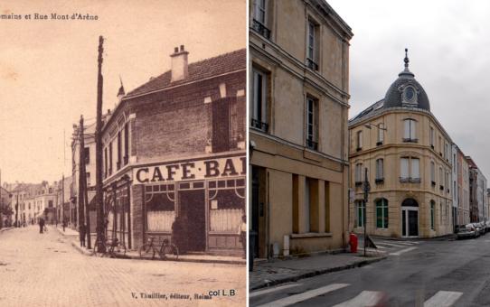Angle de la rue du Mont d'Arène et de la rue des Romains