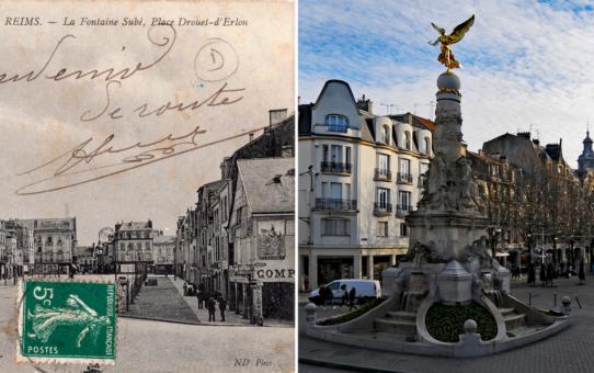 La place d'Erlon vue de la terrasse du Lion de Belfort